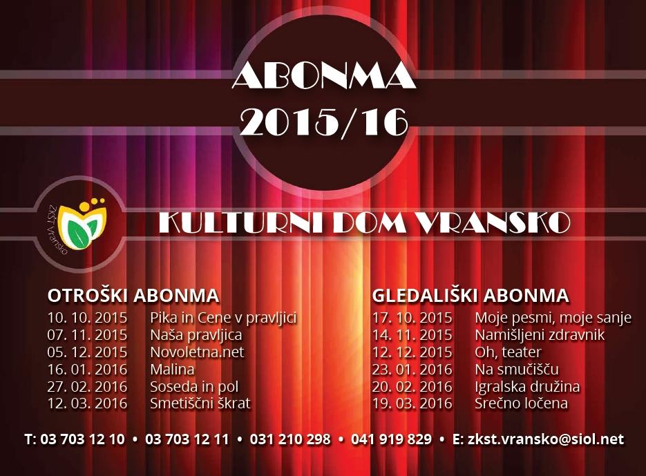ABONMA 2015-2016